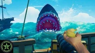 Fighting The Megalodon Sea Of Thieves The Hungering Deep