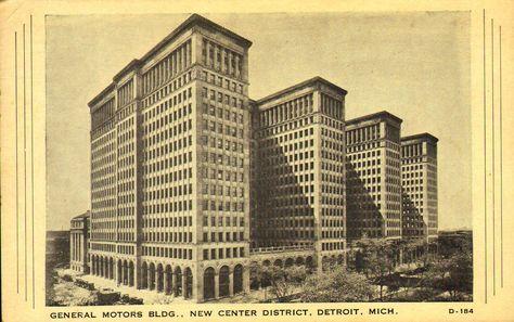 General Motors Building New Center District Detroit Michigan