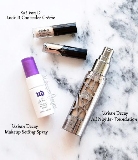 Review Swatches Urban Decay All Nighter Foundation Makeup