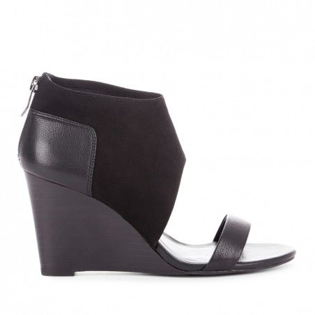 It's Boot Season: You can still show a little skin Sole Society - Open toe wedges - Haley - Black