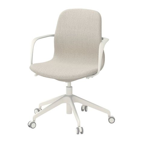 LÅNGFJÄLL Swivel chair, Gunnared light brown-pink, white | Sacd_tala ...