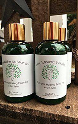 Amazon com: Supreme Healing Body Oil, 8oz  Blend of Raw