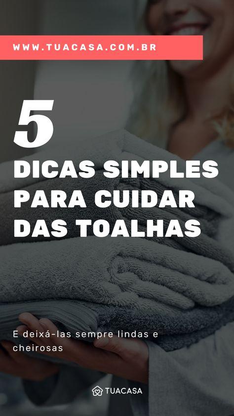 Como cuidar das toalhas de banho com 5 dicas simples