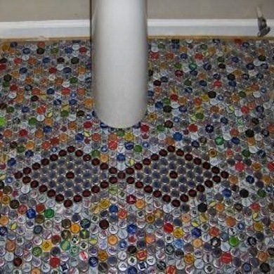 Just Floored 15 Totally Unexpected Diy Flooring Alternatives Diy Flooring Unique Flooring Cheap Flooring