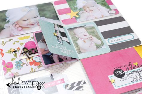 Interactive Project Life Pocket Pages @heidiswapp @beckyhigginsllc @createoften #heidiswapp #projectlife #hsprojectlife ADD JOURNAL CARDS BACK TO BACK FOR MORE SPACE