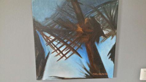 Olje på lin- malt av Toril Malmo