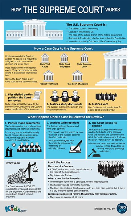 Learn the in's and outs of the Supreme Court and how it works: