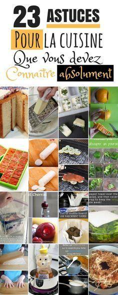 23 Astuces Cuisine A Connaitre Imperativement Conseils De Cuisine Cuisine Trucs Et Astuces Cuisine