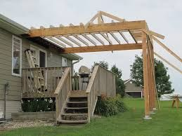Image Result For Slanted Roof Pergola Over Deck Outdoor