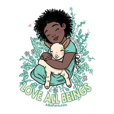 """Alba Paris (@albaparis) on Instagram: """"Love all beings. Because animals should be loved, respected and protected and not eaten, used or be…"""""""