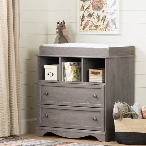 Angel Soft Grey Changing Table