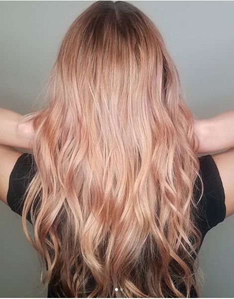 Champagner Rose Gold Haarfarbe In 2019 Gold Hair Colors