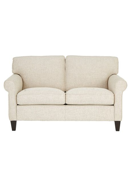 Spacious And Comfortable The Kent 2 Seater Sofa Is Upholstered In Natural Coloured Fabric On Wenge Woode Living Room Furniture Sofas 2 Seater Sofa Seater Sofa