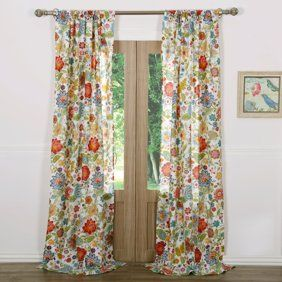 The Pioneer Woman Willow Window Curtain Panel 40 W X 84 L Set Of 2 Multiple Sizes Walmart Com Greenland Home Fashions White Window Panels Panel Curtains