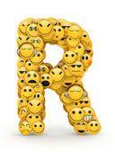 Emoticons Buchstabe r — Stockfoto