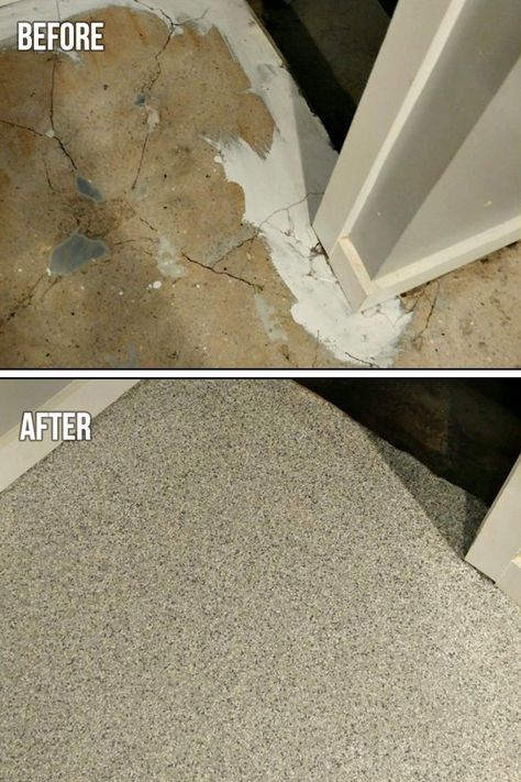 Graniflex Flakes Quartz Broadcast System Is A Decorative Multi Lift High Strength Concrete Resurfacing System It Is Concrete Floors Concrete Diy Home Repair