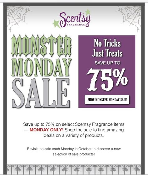 Monday 75% off
