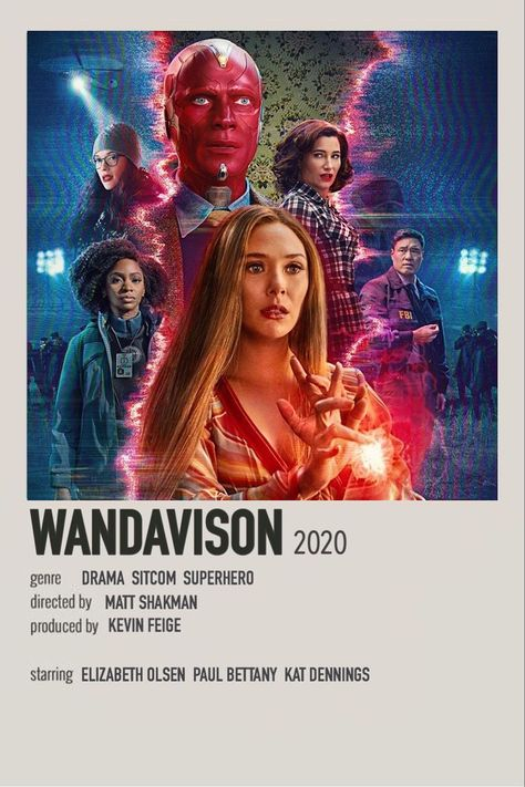 WandaVision minimalist poster