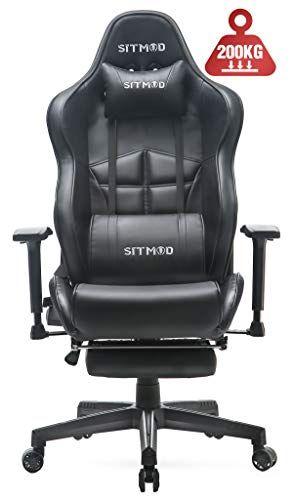 Sitmod Chaise Gaming De Massage Siege De Bureau Avec Repose Pied Ergonomique Chaise De Gamer Fauteuil De Bureau R Siege De Bureau Chaise Bureau Fauteuil Bureau