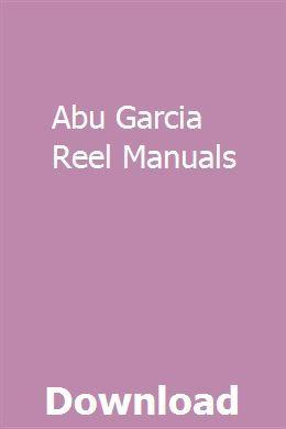 Abu Garcia Reel Manuals   eranatar   Pdf, Manual on