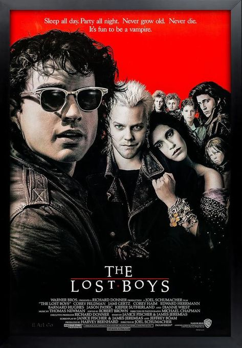 The Lost Boys, Movie Poster, Framed and Ready to Hang.