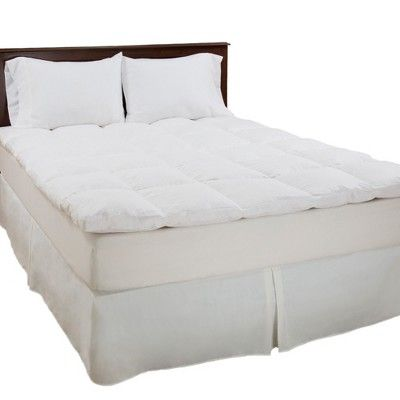 Duck Feather 2 Gusset Topper King White Yorkshire Home Feather Mattress Mattress Topper Mattress