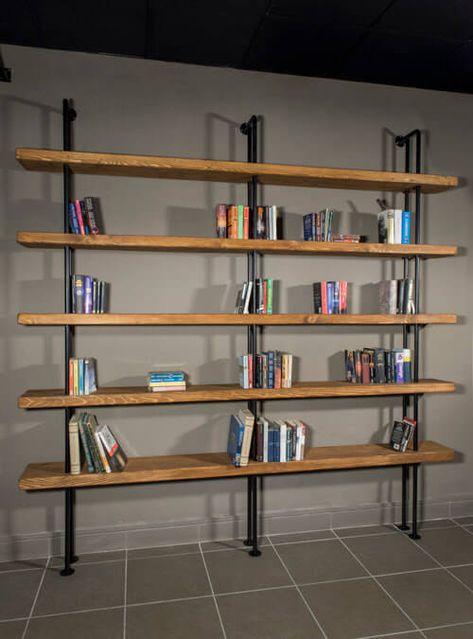 Scopri il nostro catalogo di librerie moderne, librerie design e librerie componibili. Libreria Da Parete Vintage Tubolari In Ferro E Mensole Legno Quasimodo Librerie A Parete