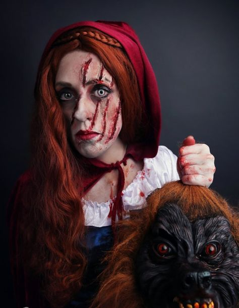 halloween kostümideen  rotkäppchen und der wolf