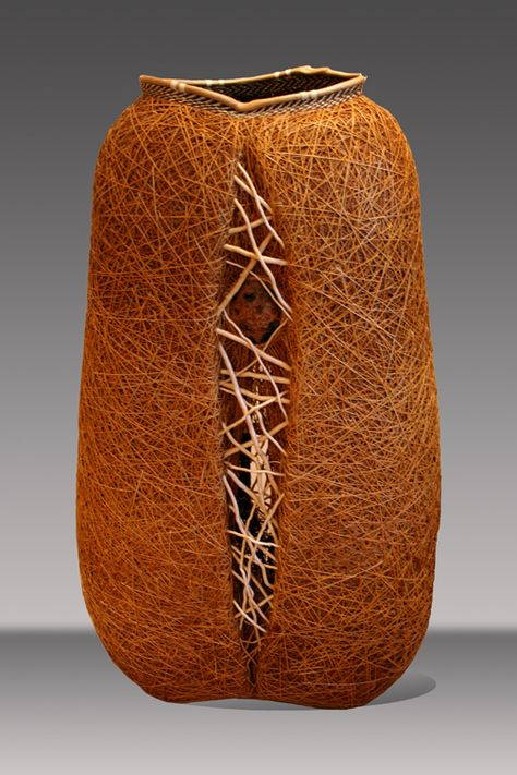"Dawn Walden, Artist, ""Random Order XV"", Ojibway, Maple bark,"