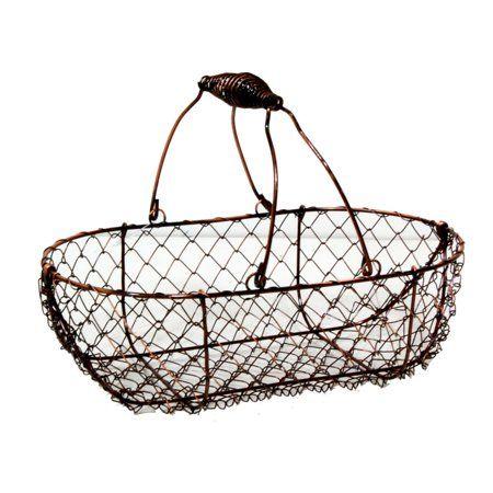 Home Wire Basket Decor Basket Copper Wire Basket