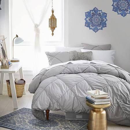 Pin On Bedroom Ideas, Grey Bedding Teenage Girl