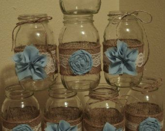 64 Ideas For Baby Shower Ideas For Boys Decorations Vintage Mason Jars
