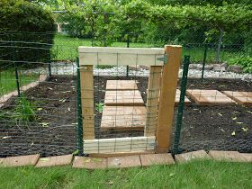 My Rabbit Proof Garden Gate Garden Gates And Fencing Backyard