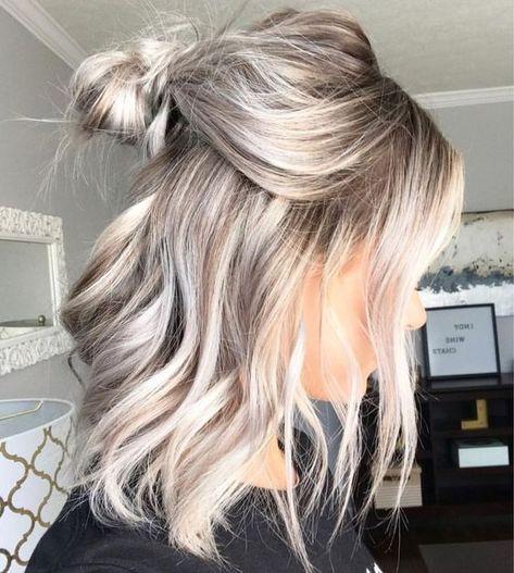 Astonishing bun hairstyle on blonde hair