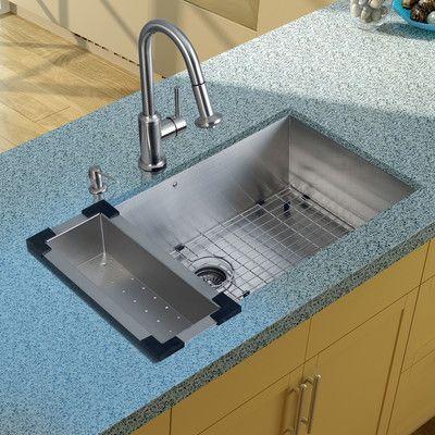 Undermount Stainless Steel Kitchen Sink With Faucet, Colander, Strainer U0026  Dispenser   Homeclick Community