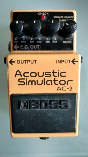 Boss Acoustic Simulator Ac 2 Guitar Effects Pedal Guitar Effects Guitar Effects Pedals Guitar