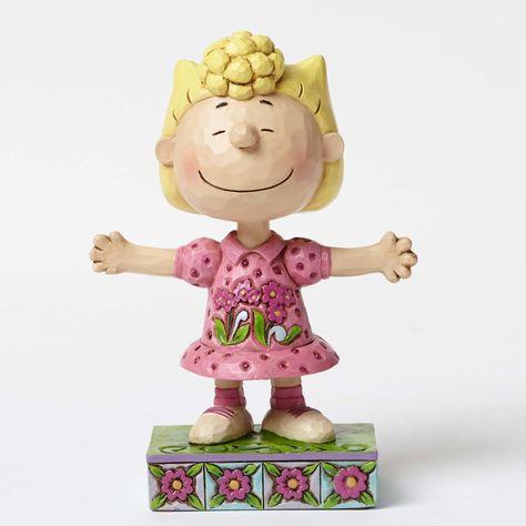 Enesco Jim Shore Figur 4055660 Lucy Petting Snoopy The Peanuts Skulptur