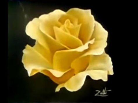 Pintura Em Tela Rosas E Gotas Oleo Sobre Tela Youtube With
