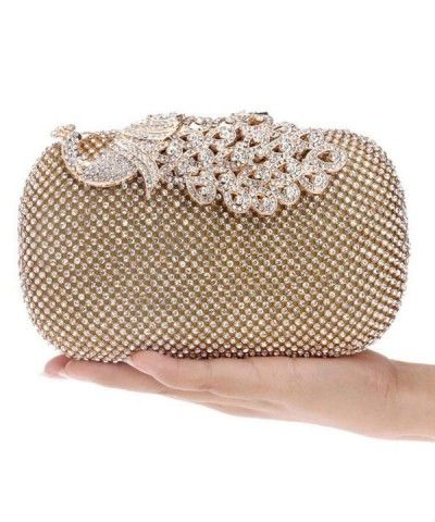 Ladies Designer Purses Shell Clutch Bag With Crystal-Encrusted Clasp Party Prom