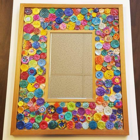 Class Project for Auction: Clay Mosaic Mirrors (Art is Basic)