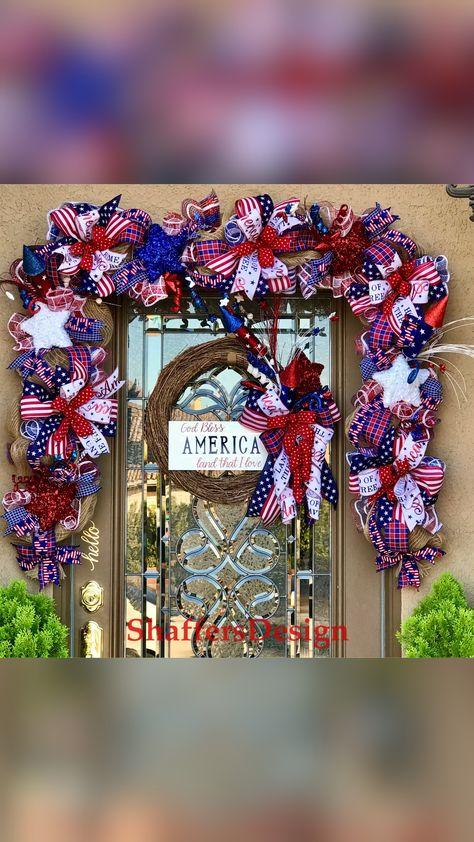 Patriotic Front Door Decor