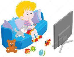 Dibujos Animados De Ninos Viendo Television Busqueda De Google Christmas Gift Vector Rooster Vector Gift Vector