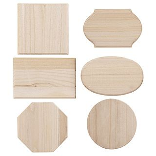 6 Unfinished Wood Plaques Assorted Shapes And Sizes Unfinished Wood Plaques Wood Plaques