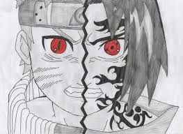 Image Result For Half Face Anime Drawing With Images Anime