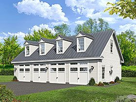 Traditional Style 4 Car Garage Plan Number 51682 Garage Plans With Loft Garage Workshop Plans Garage Plans