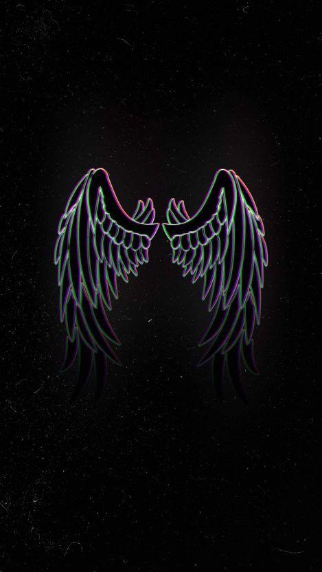 Angel Wings Iphone Wallpaper Iphone Wallpapers In 2020 Angel Wings Iphone Wallpaper Wings Wallpaper Glitch Wallpaper