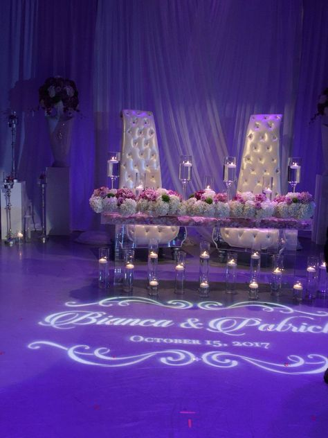 Custom Names Bride and Groom Wedding Logo Gobo Light Projection, Logo, or Sign Design Bride Groom Table, Wedding Groom, Wedding Table, Wedding Mandap, Wedding Ideas, Tent Wedding, Indoor Wedding, Wedding Planning, Wedding Reception Lighting