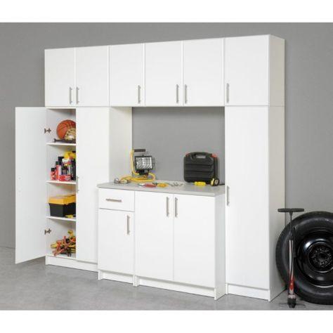 """Prepac Elite Storage 32/"""" 2 Door Topper /& Wall Cabinet"""