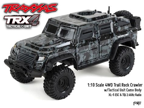Traxxas 1 10 Trx 4 Tactical Trail Rock Crawler W Tactical Unit Body Tra820664 Motorcycle Model Kits Hobby Rc Cars Motorcycle Model