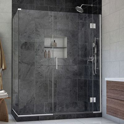 Dreamline Unidoor X 60 In W X 30 3 8 In D X 72 In H Frameless Hinged Shower Enclosure Shower Enclosure Shower Doors Frameless Shower Enclosures